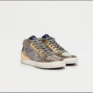 Queens Glitter Midtop Sneakers In Lurex